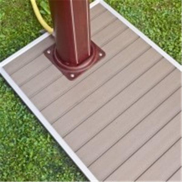 Base para ducha solar - 90 x 60 cm- marco aluminio, lamas imitac madera