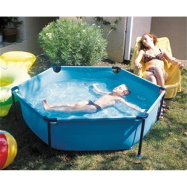 PISCINA GRE TUBULAR OCTOGONA CON DESAGUE