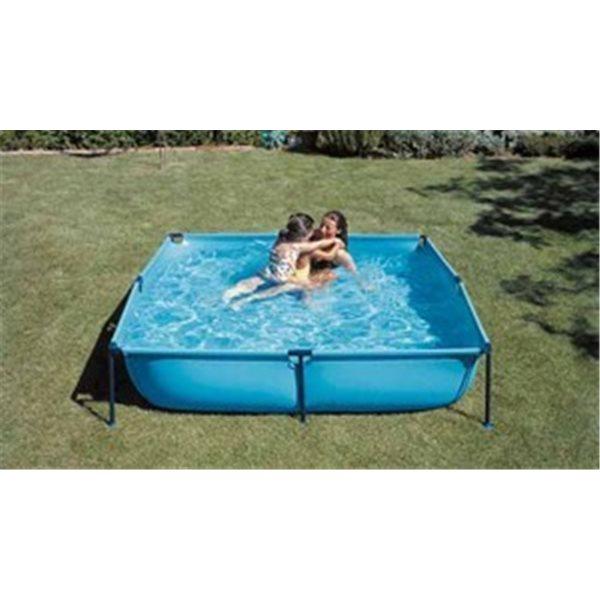 Piscina de lona con patas de PVC de 4 lados - 1.450 litros  d.190x190x45. MODELO JET POOL